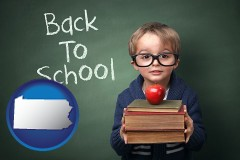 the back-to-school concept - with Pennsylvania icon