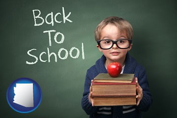 the back-to-school concept - with Arizona icon