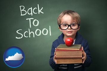 the back-to-school concept - with Kentucky icon