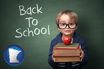 the back-to-school concept - with Minnesota icon