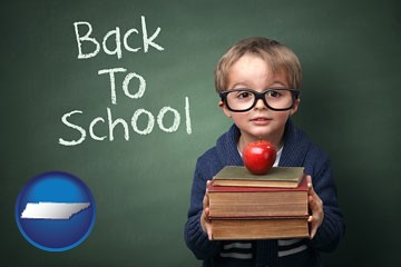 the back-to-school concept - with Tennessee icon