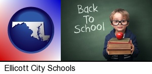 Ellicott City, Maryland - the back-to-school concept