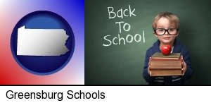 Greensburg, Pennsylvania - the back-to-school concept